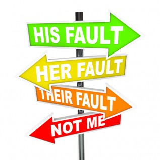 His Fault sign small